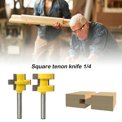 """2 x 1/4"""" Shank Tongue & Groove Router Bit  T-type 3-tooth Useful Cutter Hot C1"""