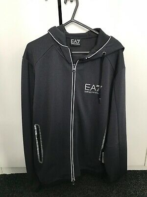 armani genuine tracksuit top, small mens, anthracite colour RRP £170