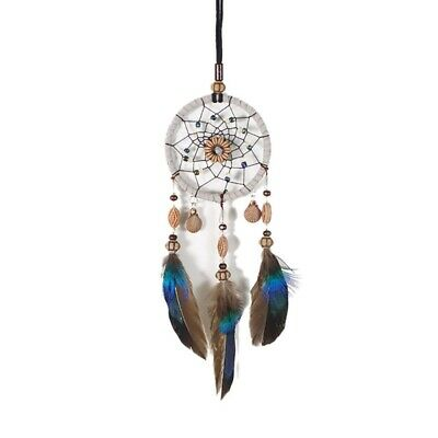 1PC Dream Catcher Beaded Car Wall Hanging Bead Ornament Feathers Mini Decoration
