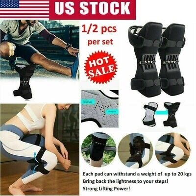 2x Power Knee Stabilizer Pad Powerful Rebound Spring Force Lift Joint Support US