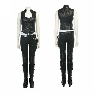 Gamora Cosplay Costume Leather Vest Boots pants Halloween Costumes for women