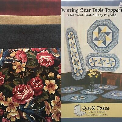Twisting Stars Table Toppers Quilt Tales Pattern Quilt Shop Cotton Fabric Kit
