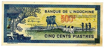 French Indochina P-68 500 Piastres ND(1944) Ch.AU-UNC