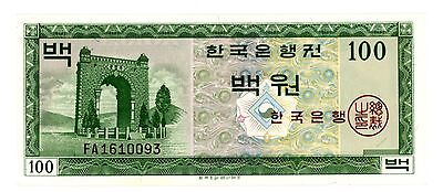 Korea South P-36a 100 Won ND(1962) UNC