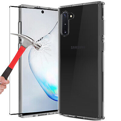 For Samsung Galaxy Note 10 Plus 5G Clear Case Cover With Glass Screen Protector