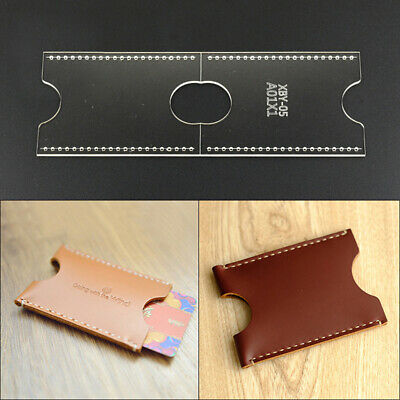 Acrylic Clear Template Handcrafting Set Craft For Leather Wallet Bag Patte~GN