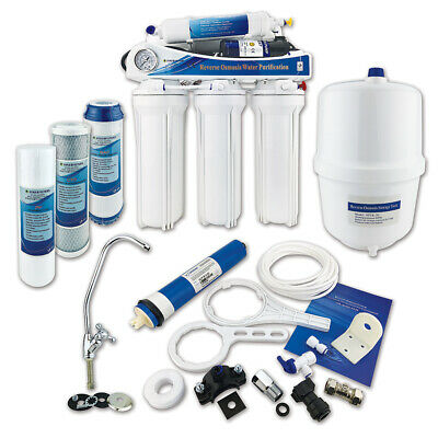 Finerfilters Domestic 5 Stage Reverse Osmosis Unit RO System with Booster Pump