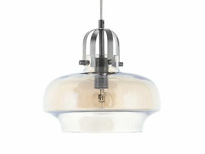 Pendant Ceiling Light Lamp Tinted Glass Gold Antique Old Style Vintage Industria