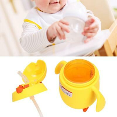 Children Straw Water Glass Two Layer Bottle with Handle & Scale Inside the Cup