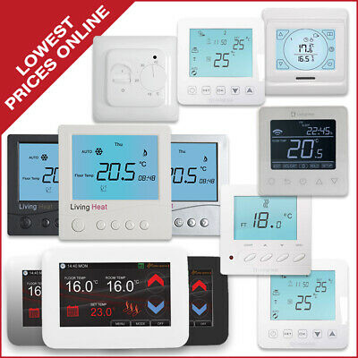 Thermostats for Underfloor Heating - Complete Range - Manual & Wi-FI