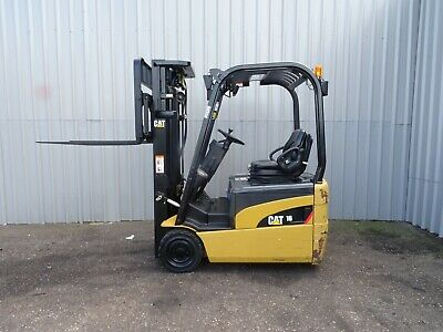 CAT EP16NT. 4750mm LIFT USED ELECTRIC FORKLIFT TRUCK. (#2512)