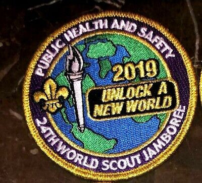 Public Health Badge Patch Staff 2019 24th World Scout Jamboree Mondial Official