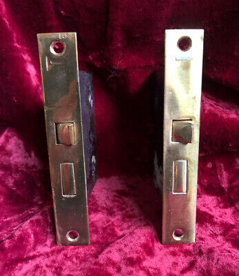 One REFURBISHED Antique c.1915 Brass Passage Mortise Door Locks (13 Available!)