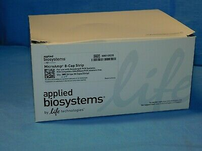 Box of (228) AB MicroAmp 8-Cap Strips for Reaction Tubes, N801-0535