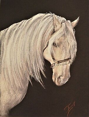 pastel paper miniature horse drawing decoracion painting collectibles