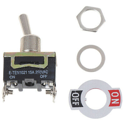 Auto Boot 6 Pin 15A Auto Tip Toggle DPDT ON-OFF-ON Schalter 12v 220-250VUUDEDA