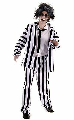 Mens Horror Fancy Dress Novelty Party Outfit Adult Halloween Crazy Ghost Costume