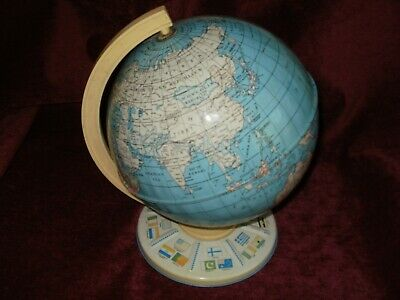 Vintage steel mounted globe