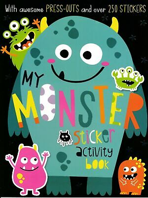 Halloween MONSTERS Sticker Activity Book A4 Colouring, Press outs RRP £4.99 NEW