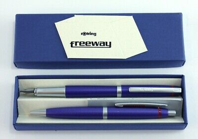 Rotring Freeway Fountain Pen & Ballpoint Set BLUE  NEW Boxed NO RESERVE