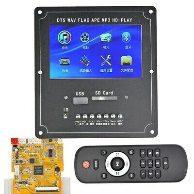 Dc5V 4.3 Pollici Lcd Dts Lossless Audio Bluetooth Ricevitore Decoder Board  Y8Q3