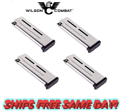 TWO WILSON COMBAT 1911 Compact 9mm 9 Round ETM MAGAZINES 500