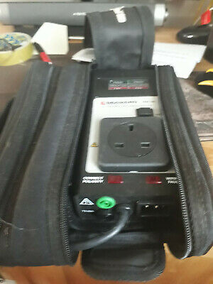 Pac 500 handheld Pat Tester with fly lead and case.