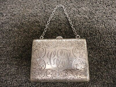 STUNNING ANTIQUE SOLID STERLING SILVER CIGARETTE CASE~84.4 Grams