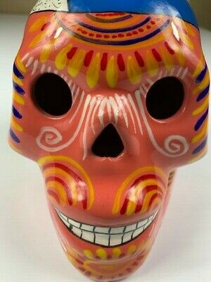 Mexican Talavera Day Of The Dead CALAVERA DIA DE LOS MUERTOS Sugar Skull Handcra