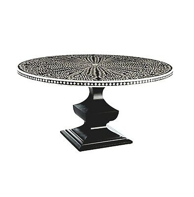 Bone Inlay Round Dining Table (4 Seater)