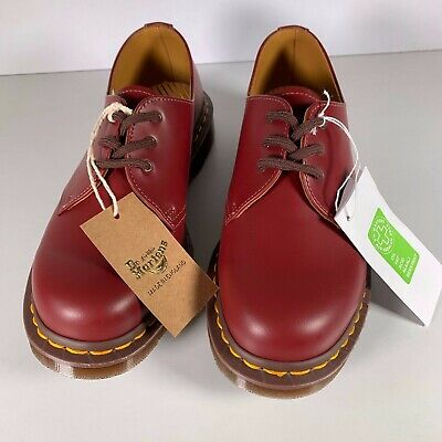 Dr Martens 1461 Made In England 3 Eye Leather Shoes Oxblood Red AirWair
