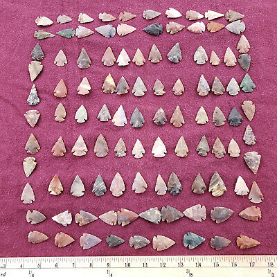 104 Piece 1-1.5 Inch Arrowhead Project Spear Point Knife Blade Collection Indian