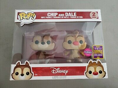 Funko Pop! Chip and Dale 2pack *flocked* SummerCon 2017 Exc Vinyl Figure