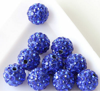 Czech Crystal Rhinestones Pave Clay Round Disco Ball Spacer Bead 20 Quality 8mm