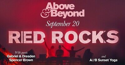 One (1) Instant Transfer Ticket To Above & Beyond @ Red Rocks, CO - 9/20/2019