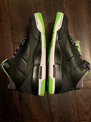 Nike Air Jordan Retro Joker 3 UK7.5 Brand New In Box Black Green Trainers