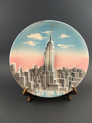 Empire State Building Skyscraper New York Wall Art 3D Plate / Plaque Vintage