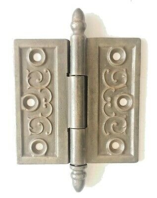 "EA54 Casts Iron Antique Ornate Door Hinge Hardware 4"" x 4"""