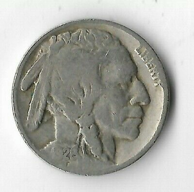 Rare Antique 1926 US Buffalo Indian Nickel Collection Great Depression Coin X30