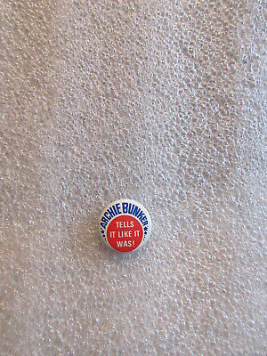 """1972 Vintage Archie Bunker button """"Tell It Like it Was!"""" 1"""" button"""