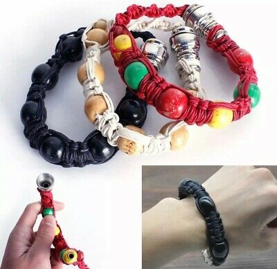 Metal Bracelet Smoking Pipe Portable Jamaica Rasta Weed Cigarette Pipes Gifts