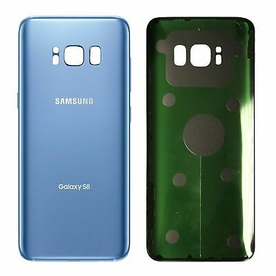 Blue Genuine Samsung Galaxy S8 G950 Rear Back Glass Battery Cover