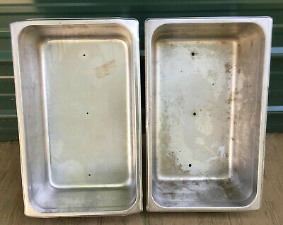 LOT 2 Stainless Steel Full Size 6'' Deep Steam Table Pan buffet