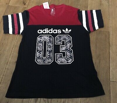 Girls Adidas Logo & Floral T-Shirt Age 9-10 Years - Rrp £25.00 -