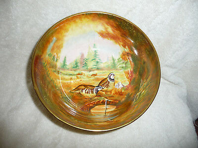 Coalport Hand Painted French Partridge Bowl # 26/100 Excellent!!! Nr