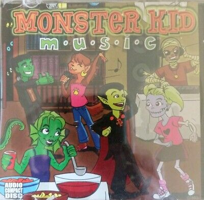 Monster Kid Music Cd - 45 Minutes Of Rockin' Childrens Halloween Party - New