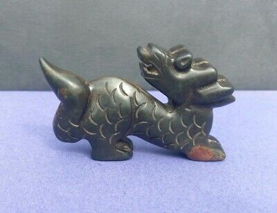 Chinese Old Natural Jade Hand Carved Dragon