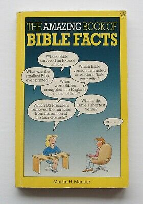 The Amazing Book of Bible Facts by Manser, Martin Paperback