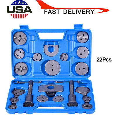 22 pcs Disc Brake Caliper Piston Pad Car Auto Wind Back Hand Tool Set Kit