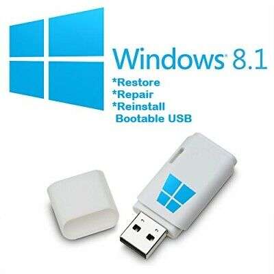 Windows8.1 Pro 32/64Bit Install & System Recovery Software on USB latest!!!